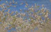 Исаак Ильич Левитан. Ветка цветущей яблони