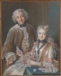 Francois de Julien and his wife (Marie Elizabeth de Sor de Rie)