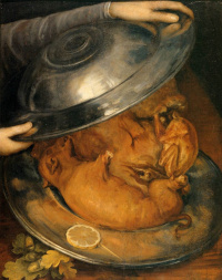 Still life with a pig (Cook)