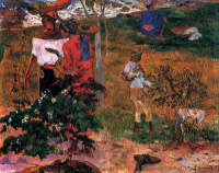 Paul Gauguin. Tropical conversation