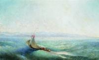 Лев Феликсович Лагорио. Парусник в море