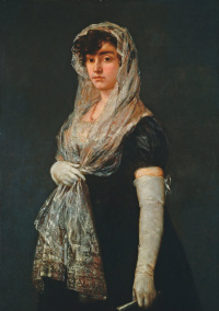 The young lady in the Mantilla and the Baskin