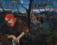 Поль Гоген. Христос в Гефсиманском саду (автопортрет)