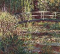 Японский мостик (Пруд с водяными лилиями, симфония в розовом)