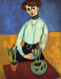 Henri Matisse. Girl with tulips