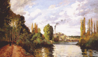 The Shores Of The Oise. PONTOISE