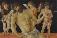 Джованни Беллини. Пьета. Мертвый Христос, поддерживаемый ангелами