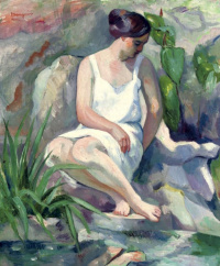 Henri Manguin. Bather in Cassis (Jeanne)