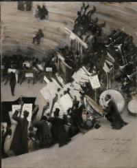 Orchestra rehearsal of Jules Etienne Bastard