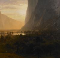Альберт Бирштадт. Панорамный вид долины Йосимити. Фрагмент