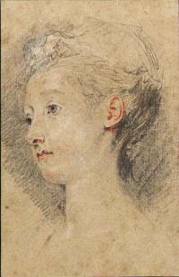 Голова молодой девушки