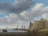 Саломон ван Рёйсдал. Устье реки