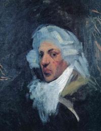 Self-portrait in a wig