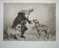 Чарльз Бертон Барбер. Girl With Dogs
