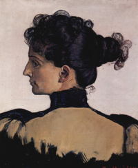 Portrait of Bertha Jacques, wife of the artist