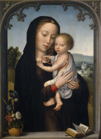 The virgin and child (attributed to Gerard David)