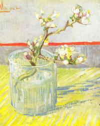 Ветка цветущего миндаля