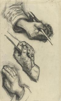 Три руки, две с ножами