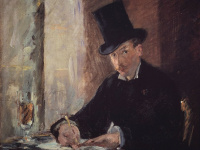 Edouard Manet. At Tortoni
