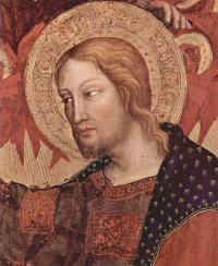 Коронование Марии, центральная часть, сцена: Коронование Марии, деталь: Христос