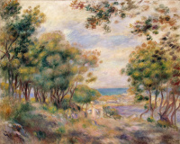 Пьер Огюст Ренуар. Пейзаж в Болье