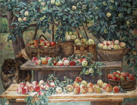 Apples and a dog-the watchman