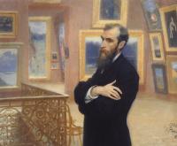 Илья Ефимович Репин. Портрет П. М. Третьякова