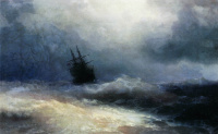 A ship in a storm