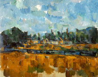 Paul Cezanne. The river