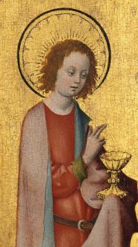 St. John the Theologian. 1445-1450 detail