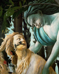Spring (Primavera). Detail: Zephyr, God of wind, pursuing a nymph Chloe