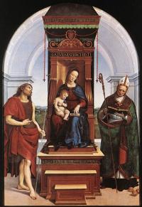 Мадонна с младенцем, Иоанном Крестителем и Святым Николаем (Мадонна на троне)