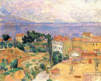 Paul Cezanne. View on the l'estaque