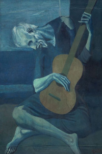 Old guitar player