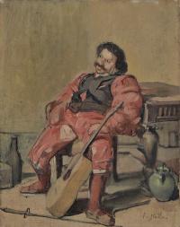 Фердинанд Ходлер. Мужчина с гитарой