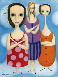 Margaret Kin. Three women