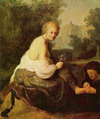 The old woman and young woman