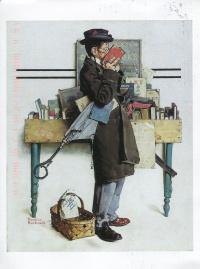 Норман Роквелл. Чтение книги