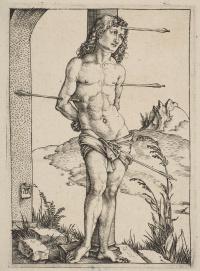 Saint Sebastian at the column