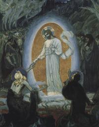 Сошествие Христа во Ад. Эскиз образа иконостаса храма Воскресения Христова в Петербурге (Спас на Крови)