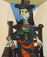 Пабло Пикассо. Дора Маар с кошкой