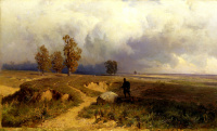 Landscape. Before the storm. 1869