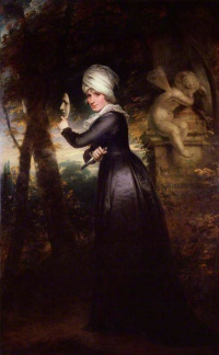 Sarah Siddons, née Kemble (Mrs. Siddons with the emblems of tragedy)