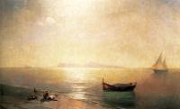 Штиль. Вид Капри (Средиземное море)
