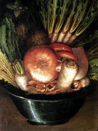 Натюрморт с луком и овощами (Садовник)