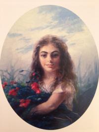 Иван Константинович Айвазовский. Девочка с букетом