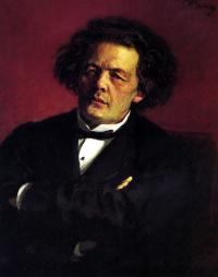Портрет композитора А. Г. Рубинштейна.