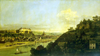 Вид Пирны с правого берега Эльбы выше города