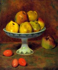 Яблоки и красные яйца