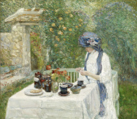 Tea in a French garden